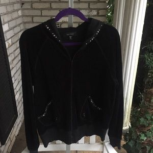 Karen Kane velvet jacket with hood.   NWOT